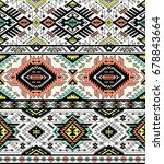 retro colors tribal vector... | Shutterstock .eps vector #678843664