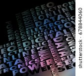 background consisting of words  ... | Shutterstock .eps vector #678844060