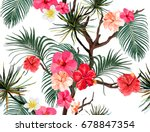 beautiful seamless vector... | Shutterstock .eps vector #678847354