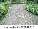 walkway block in the park   Shutterstock . vector #678848710
