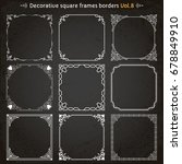 decorative square frames... | Shutterstock .eps vector #678849910