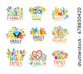 colorful family labels original ... | Shutterstock .eps vector #678850420