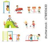 cute cartoon little kids... | Shutterstock .eps vector #678850630