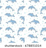 seamless pattern with happy...   Shutterstock .eps vector #678851014