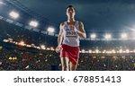 female track and field runner... | Shutterstock . vector #678851413