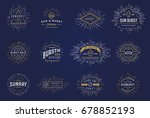sun burst vintage shapes... | Shutterstock . vector #678852193