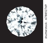 diamond illustration on black... | Shutterstock .eps vector #678852769