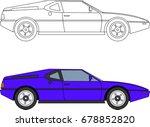 vector 80s car | Shutterstock .eps vector #678852820