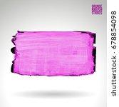 purple brush stroke and texture.... | Shutterstock .eps vector #678854098