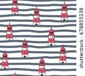 nautical seamless background.... | Shutterstock .eps vector #678855238