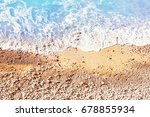 beautiful coastline  sandy... | Shutterstock . vector #678855934