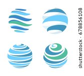 abstract blue global planet... | Shutterstock .eps vector #678856108