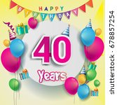 40th years anniversary... | Shutterstock .eps vector #678857254