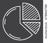 pie chart line icon  business...