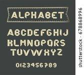 origami  paper alphabet. abc....   Shutterstock .eps vector #678868996