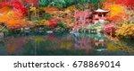 japan autumn image. beautiful... | Shutterstock . vector #678869014