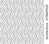 geometric vector. seamless... | Shutterstock .eps vector #678869020