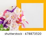 white blank greeting card with... | Shutterstock . vector #678873520