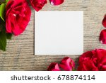 white blank greeting card with... | Shutterstock . vector #678874114