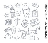 hand drawn objects with united... | Shutterstock .eps vector #678876400
