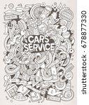 cartoon cute doodles hand drawn ... | Shutterstock .eps vector #678877330