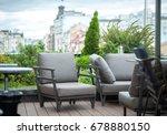 modern interior design with... | Shutterstock . vector #678880150