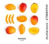 seamless pattern with mango.... | Shutterstock . vector #678884944