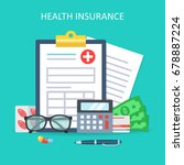 health insurance form concept.... | Shutterstock . vector #678887224