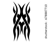 tribal tattoo art designs.... | Shutterstock .eps vector #678887710