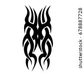 tribal tattoo art designs.... | Shutterstock .eps vector #678887728
