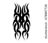 tattoo tribal vector design.... | Shutterstock .eps vector #678887728