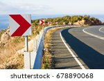 right turn sign  road signs... | Shutterstock . vector #678890068
