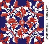 pattern ceramic tile with... | Shutterstock .eps vector #678891394