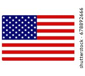 vector illustration of usa flag  | Shutterstock .eps vector #678892666