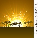 magic travel background with... | Shutterstock .eps vector #678899344