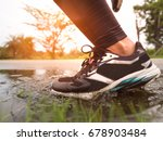 part of athlete legs and shoes... | Shutterstock . vector #678903484