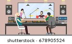 music recording studio. | Shutterstock .eps vector #678905524