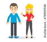 man and woman. | Shutterstock .eps vector #678905548