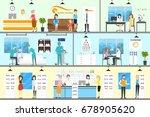 eye correction clinic. | Shutterstock .eps vector #678905620