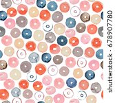 watercolor multicolor polka... | Shutterstock . vector #678907780