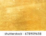 shiny yellow leaf gold foil... | Shutterstock . vector #678909658
