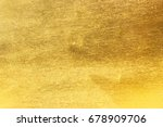 shiny yellow leaf gold foil... | Shutterstock . vector #678909706