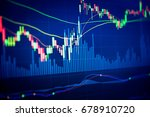 financial data on a monitor as... | Shutterstock . vector #678910720