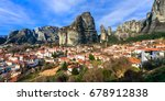 landmarks of greece   unique... | Shutterstock . vector #678912838