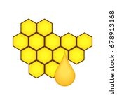 honey comb icon. | Shutterstock .eps vector #678913168