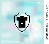 web line icon. shield. | Shutterstock .eps vector #678913474