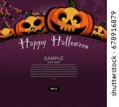 happy halloween design elements.... | Shutterstock .eps vector #678916879