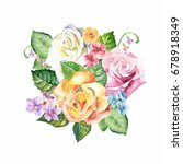 watercolor flowers | Shutterstock . vector #678918349