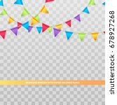vector seamless border with... | Shutterstock .eps vector #678927268