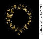 round banner with golden... | Shutterstock .eps vector #678928900